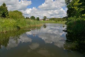 Puka, Estonia - Image: Puka keskuse veehoidla (Puka oja)