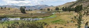 Lake Pomacocha (Ayacucho) - Image: Pumacocha Archaeological site overview