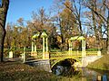 Pushkin (Tsarskoye Selo). Alexander Park. Cross channel. Small Chinese bridge..JPG