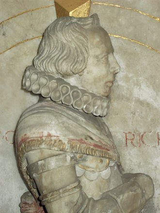 Sir Thomas Wolryche, 1st Baronet - Thomas Wolryche, as portrayed on his parents' tomb in St Andrew's church, Quatt, Shropshire