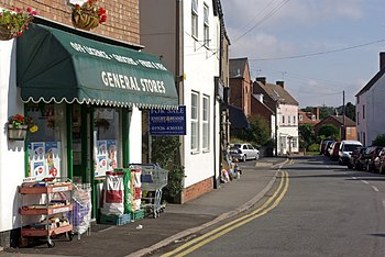 English: Queen Street, Cubbington The centre o...
