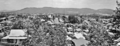 Queensland State Archives 525 Looking from Highgate Hill across South Brisbane and West End towards Toowong The Summit Mount Coottha and Taylor Range November 1948.png