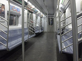 R142 (New York City Subway car) - Image: R142 interior
