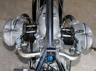 Cylinder (engine) - Air-cooled ''boxer'' engine on a 1954 BMW motorcycle
