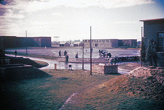 RAF Bassingbourn - Personnel of the 91st Bomb Group on the parade ground at Bassingbourn
