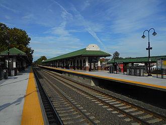 Ridgewood station - Ridgewood station in October 2014 from the Hoboken-bound platform.