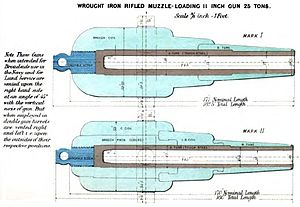 RML 11 inch 25 ton gun