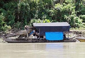 Raft Gold-washing