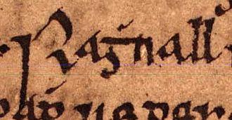 Ragnall mac Torcaill - Image: Ragnall mac Torcaill (Oxford Bodleian Library MS Rawlinson B 488, folio 23r) 1