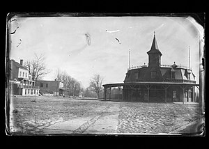 Coney Island - Railroad station in Coney Island, Brooklyn, ca. 1872–1887