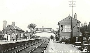 Hazel Grove railway station - The station in the 1900s