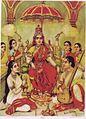 Raja Ravi Varma, Ambika (Oleographic print).jpg