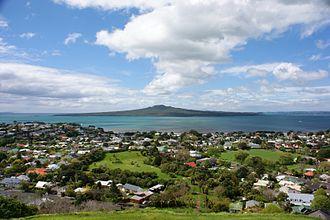 Cheltenham, New Zealand - Cheltenham seen from Mount Victoria.