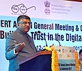 Ravi Shankar Prasad addressing at the inauguration of the open session of APCERT (Asia Pacific Computer Emergency Response Team), in New Delhi.jpg
