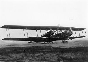 Zeppelin-Staaken R.V - R.V 13/15, shown with two-bladed propeller on the nose engine.