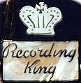 Recording King model M-3 by Gibson (1940) headstock logo.jpg