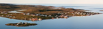 Red Bay, Newfoundland and Labrador - Red Bay seen from above
