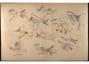 Red Horse pictographic account of the Battle of the Little Bighorn, 1881. 0100.png