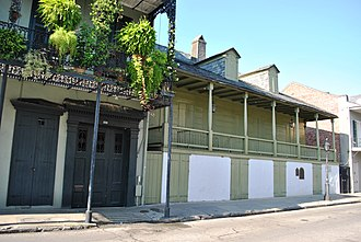 Renato Beluche - The Residence of Don Manuel Lanzos, Captain of the Spanish Army, also known as Madam John's Legacy, in New Orleans French Quarter is the birthplace of Renato Beluche