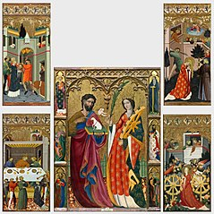 Saint John the Baptist and Saint Catherine Altar Piece