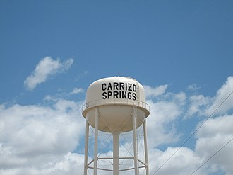 Carrizo Springs, Texas - Carrizo Springs water tower