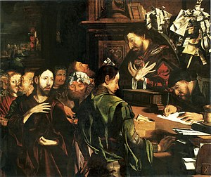 Marinus van Reymerswaele -  Calling of St. Matthew