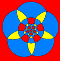 Rhombicosidodecahedron stereographic projection pentagon'.png