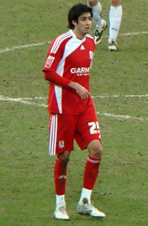 Rhys Williams (footballer) - Williams playing for Middlesbrough in 2010