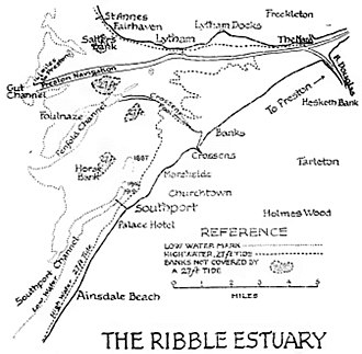 Ribble and Alt Estuaries - The Ribble Estuary in 1917.
