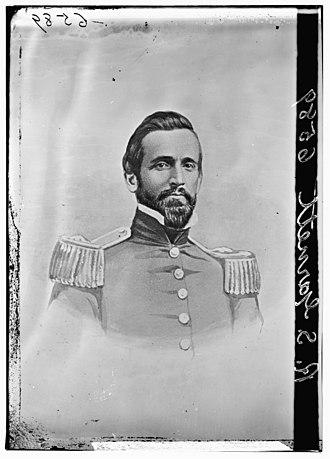 Robert S. Garnett - Although sometimes identified as Richard B. Garnett; it is in fact a picture of Robert Selden Garrett. See p.135 Vol 1 Battles and Leaders of the Civil War series for a sketch of Garnett in CSA Uniform based on this photograph