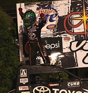 Rico Abreu - Abreu celebrating after winning a 2013 midget car race