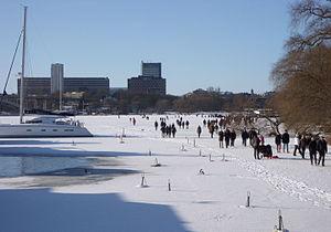 Riddarfjärden - Image: Riddarfjärden vinter 2012