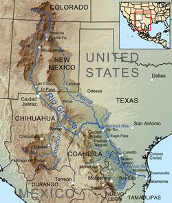 Rio Bravo Mapa Fisico.Rio Bravo Wikipedia La Enciclopedia Libre