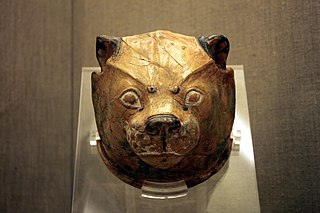 Ceramic lioness rhyton from Akrotiri