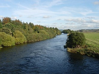 River Earn - The River Earn viewed from Forteviot bridge.
