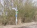 Roadsign at Bruisyard Road junction - geograph.org.uk - 1744209.jpg