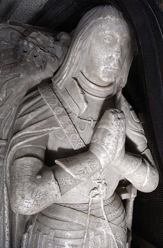 Robert Willoughby, 1st Baron Willoughby de Broke - Effigy of Robert Willoughby, 1st Baron Willoughby de Broke (d. 1502), alabaster, St Mary's Church, Callington, Cornwall