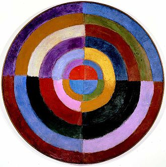 Abstract art - Robert Delaunay, 1912–13, Le Premier Disque, 134 cm (52.7 in.), Private collection.