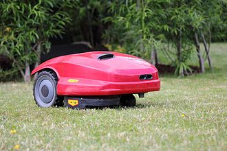 Lawn mower - A battery-powered robotic lawn mower.