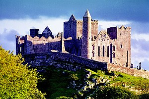 The Rock of Cashel in Ireland pictured in the ...