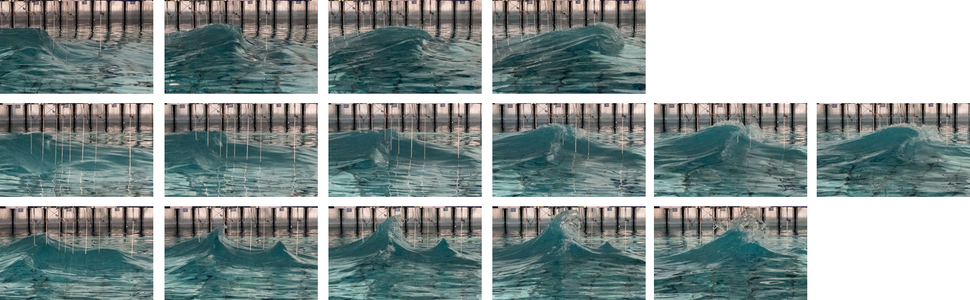 Rogue waves breaking behavior at different crossing angles, McAllister 2019