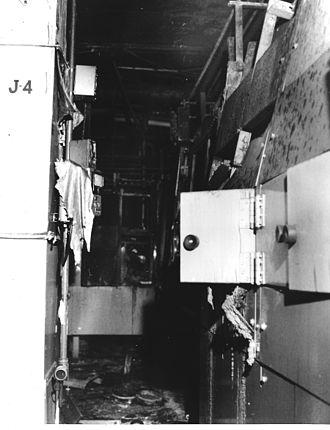 Rocky Flats Plant - Room damaged by 1969 Rocky Flats Fire