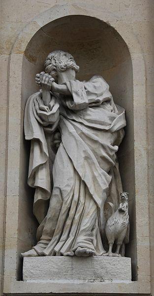 Rueil-Malmaison - Église Saint-Pierre Saint-Paul - Statue de Saint Pierre dans immagini sacre