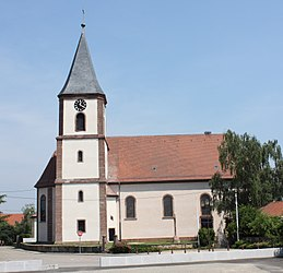 The church in Ruelisheim