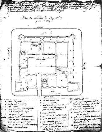 Ruppertsberg - Plan of Schloss Ruppertsberg from 1719