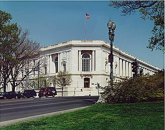 Russell Senate Office Building - The southwest entrance along Constitution Avenue, N.E.