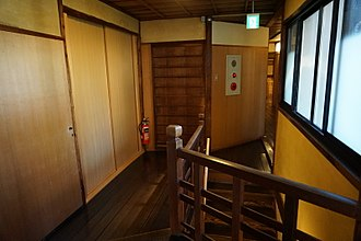 Ryokan (inn) - Ryokan interior, door and stairs