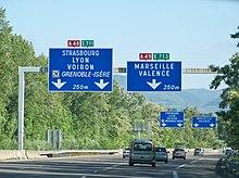 Autoroute a49 france wikip dia - Aire de porte les valence ...