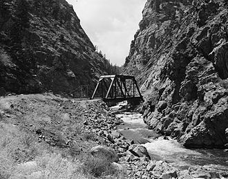 Platte Canyon - The South Platte River in Platte Canyon, Colorado, ca. 1978.