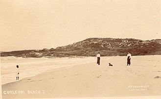 Curl Curl - Curl Curl Beach by Broadhurst, William Henry, 1855-1927